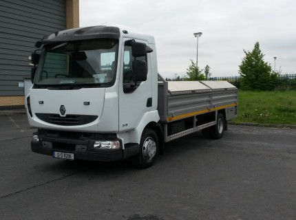 2012 Renault Midlum 3k Mint Condition Flatbed & PTO Winch System